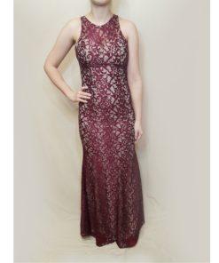 svečana haljina - bordo