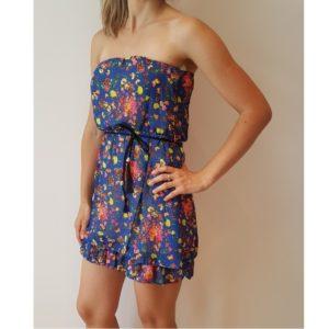 Plava ljetna haljina sa cvjetićima