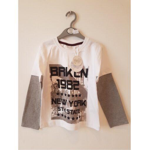 Majica za dečka - bijelo/siva