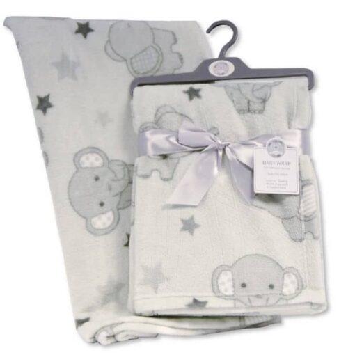 Deka za bebu - sivi slon