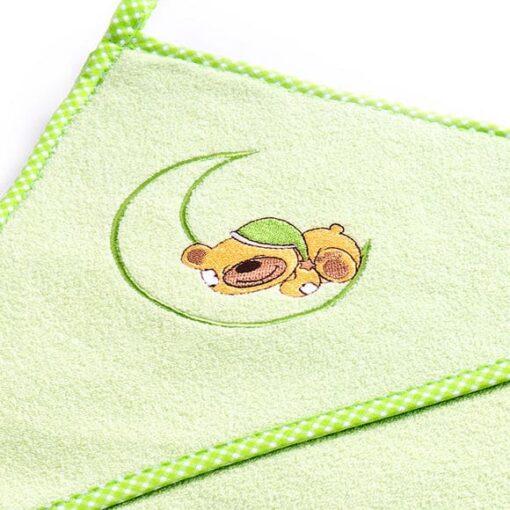 ručnik s kapuljačom - zeleni